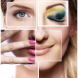 Creative beauty collage — Stock Photo