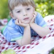 Portrait of cute little boy — Stockfoto