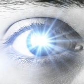 Shining human eye — Stock Photo