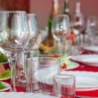 Served a banquet table - Stock Photo