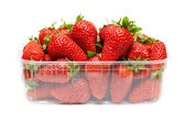 Strawberries in plastic packaging — Stock Photo