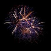 Firework in the night sky — Stock Photo