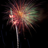 Volleys of beautiful fireworks — Stock Photo