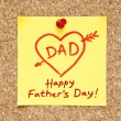 Happy Fathers Day Sticky Note — Stock Photo #10774490