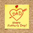 Happy Fathers Day Sticky Note - Stock Photo