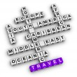 Travel direction — Stock Photo