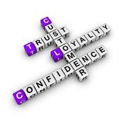 Palavras cruzadas de lealdade costomer — Foto Stock