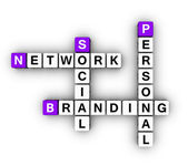 Personal Branding Social Network — Stock Photo
