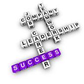 Palavras cruzadas de estratégia de trabalho — Foto Stock