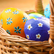 Easter basket - Stock Photo
