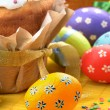 Easter eggs and cakes - ストック写真