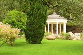 White stone gazebo in the park — Stock Photo
