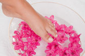 Foot in the water — Stock Photo