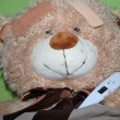 Ill teddy bear in bed — Stock Photo #11332968