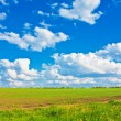 Blue sky over the plain — Stock Photo
