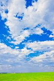 Sky over the plain — Stock Photo