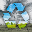 Concept of recycling symbol — Stock Photo