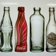 Stock Photo: Empty bottles of coccola