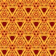 Vintage pattern wallpaper vector seamless background - Stok Vektr