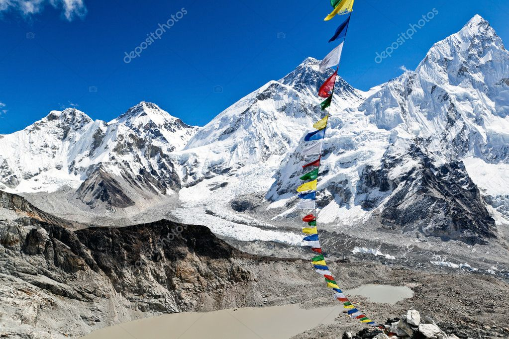 Mount Everest Summit in Himalaya Mountains, Nepal  Stock Photo #11311787