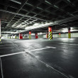 Foto Stock: Parking garage underground interior