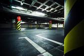Parking garage underground interior — Stock Photo