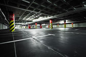 Parking garage underground interior — 图库照片