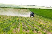 Tractor spraying, agriculture — Foto de Stock