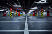 Parking garage underground — Foto Stock