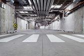 Concreta estrada subterrânea — Foto Stock