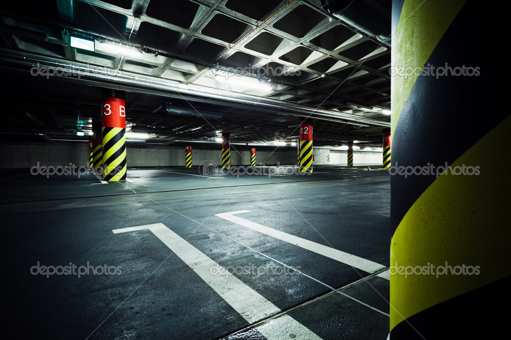 Parking garage underground interior  Stock Photo #11401550