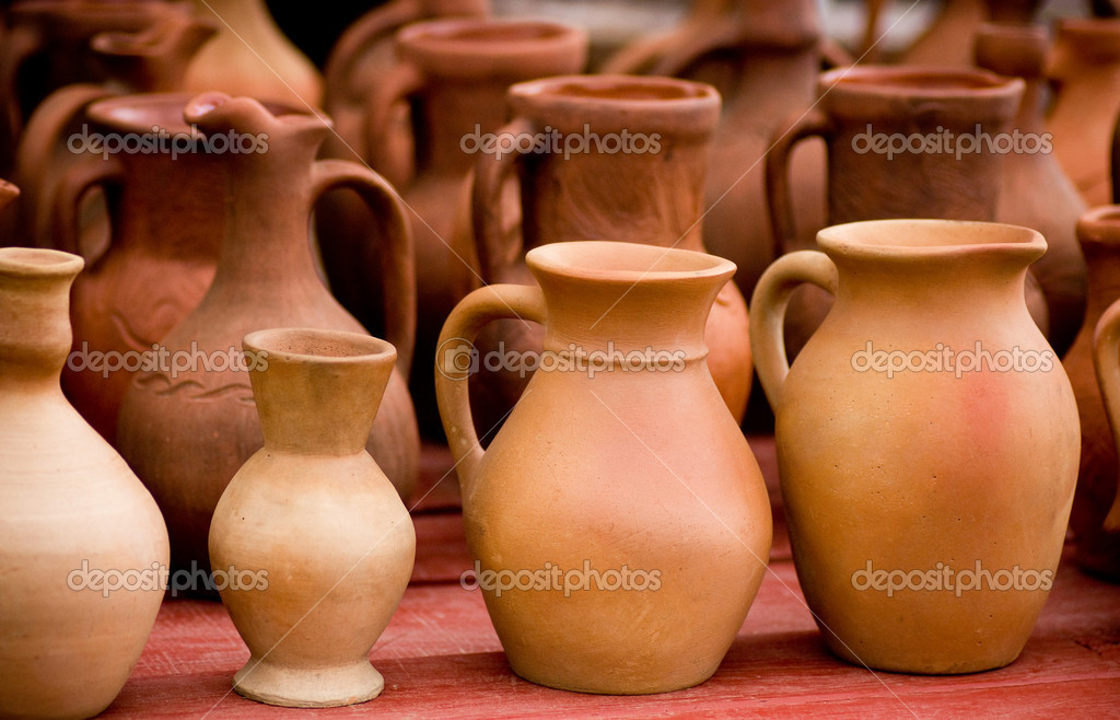Clay pots — Stockfoto #11085295