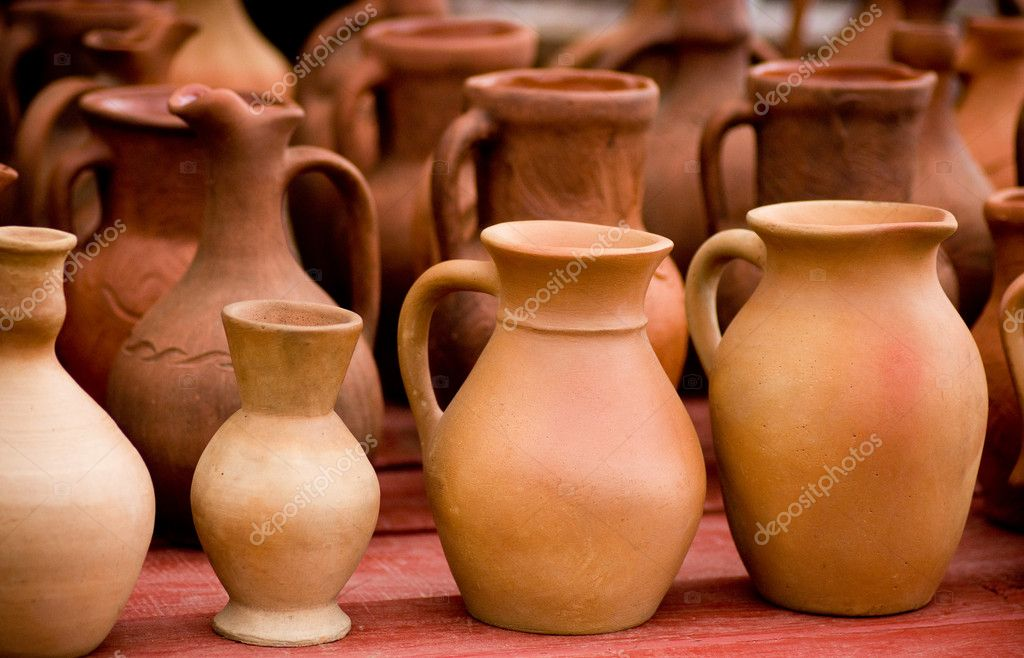 Clay pots  Foto Stock #11085295