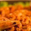 Royalty-Free Stock Photo: Tasty fried prawn food with vegetables