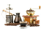 Grinder and coffe — Stockfoto