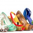 Stock Photo: Collection of woman high heels shoes