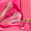 The beautiful wedding shoe — Stock Photo