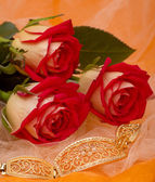Mooie rode rozen met armband — Stockfoto