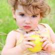 Royalty-Free Stock Photo: Child with the apple