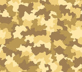 Desert camouflage seamless pattern — Stock Photo