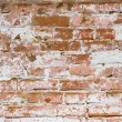 Stock Photo: Flaked-off whitewashed brick wall