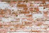 Flaked-off whitewashed brick wall — Stock Photo