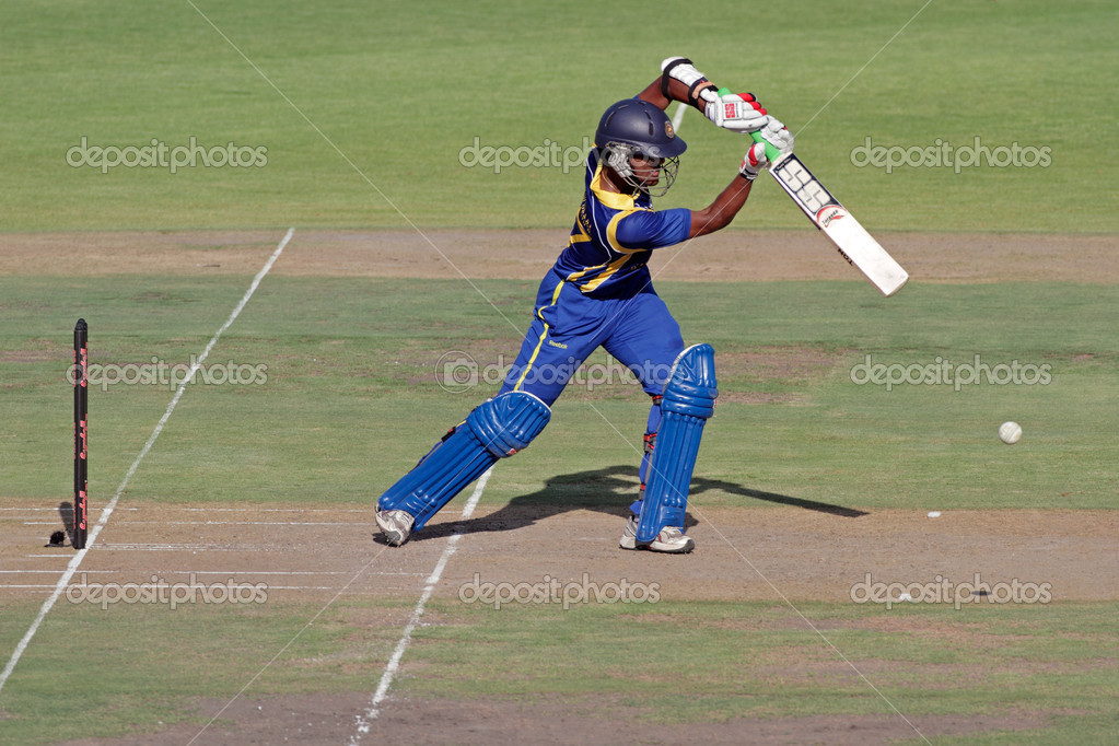 Dinesh Chandemal (SL) in action during an international one-day cricket match between South Africa and Sri Lanka (SA won the match), Bloemfontein, South Africa, 17 January 2012  Stock Photo #10939167