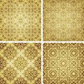 Dikişsiz altın modelleri, oryantal tarzda vektör — Stok Vektör