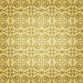 Patrón oro floral sin fisuras de vector — Vector de stock