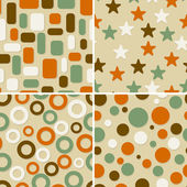 Four abstract vector seamless patterns — Stock Vector