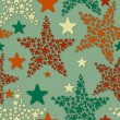 Vector seamless pattern with christmas stars — Stock Vector