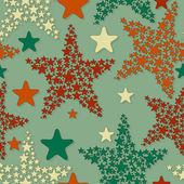 Vektorové bezešvé vzor s vánoční hvězdy — Stock vektor