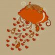 Royalty-Free Stock Imagen vectorial: Vector Autumn Hearts Rain
