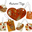 Vector Autumn Tags — Stock Vector